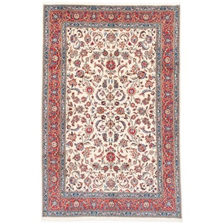 Ecarpetgallery Hand-knotted Persian Sarough Finest Beige Wool Rug (6'5 x 9'9)