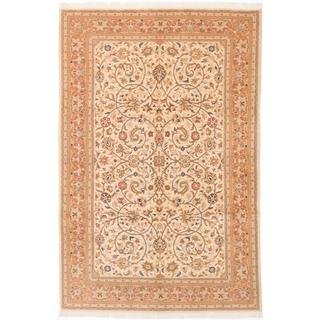 Ecarpetgallery Hand-knotted Persian Sarough Beige Wool Rug (6'7 x 9'9)