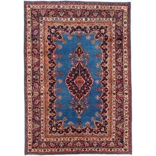 Ecarpetgallery Hand-knotted Persian Classic Persian Blue Wool Rug (6'8 x 9'6)