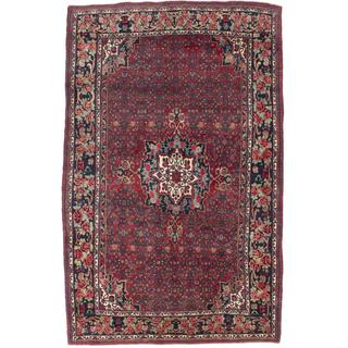 Ecarpetgallery Hand-knotted Persian Bijar Red Wool Rug (5'9 x 9'4)