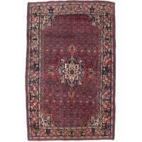 Ecarpetgallery Hand-knotted Persian Bijar Red Wool Rug (5'9 x 9'4) - 5'9 x 9'4