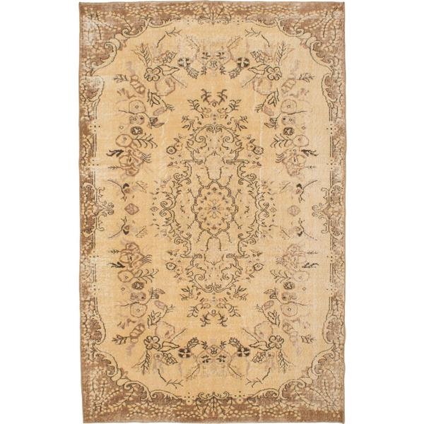 Ecarpetgallery Hand-knotted Anatolian Sunwash Yellow Wool Rug (5'6 x 8'10)