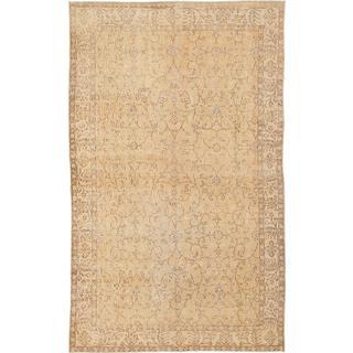 Ecarpetgallery Hand-knotted Anatolian Sunwash Yellow Wool Rug (5'2 x 8'7)