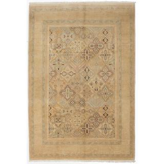 Ecarpetgallery Hand-knotted Peshawar Oushak Beige Wool Rug (6' x 8'6)