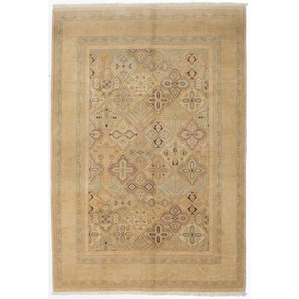 Ecarpetgallery Hand-knotted Peshawar Oushak Beige Wool Rug (6' x 8'6)