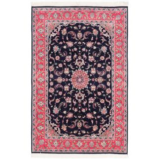 Ecarpetgallery Hand-knotted Double Knot Blue and Red Wool Rug (6'2 x 9'6)