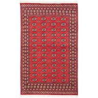 Ecarpetgallery Hand-knotted Finest Peshawar Bokhara Red Wool Rug (5'3 x 8'4)