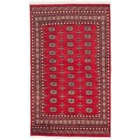 Ecarpetgallery Hand-knotted Finest Peshawar Bokhara Red Wool Rug (5'2 x 8'6)