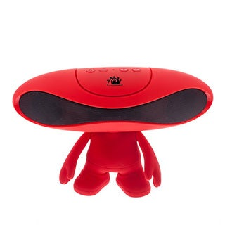 Zunammy Red Portable Rugby Doll Alien Wireless 800 MAH Portable Bluetooth Speaker