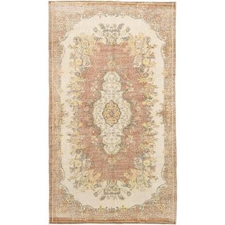 Ecarpetgallery Hand-knotted Anatolian Sunwash Beige and Brown Wool Rug (5'7 x 9'9)