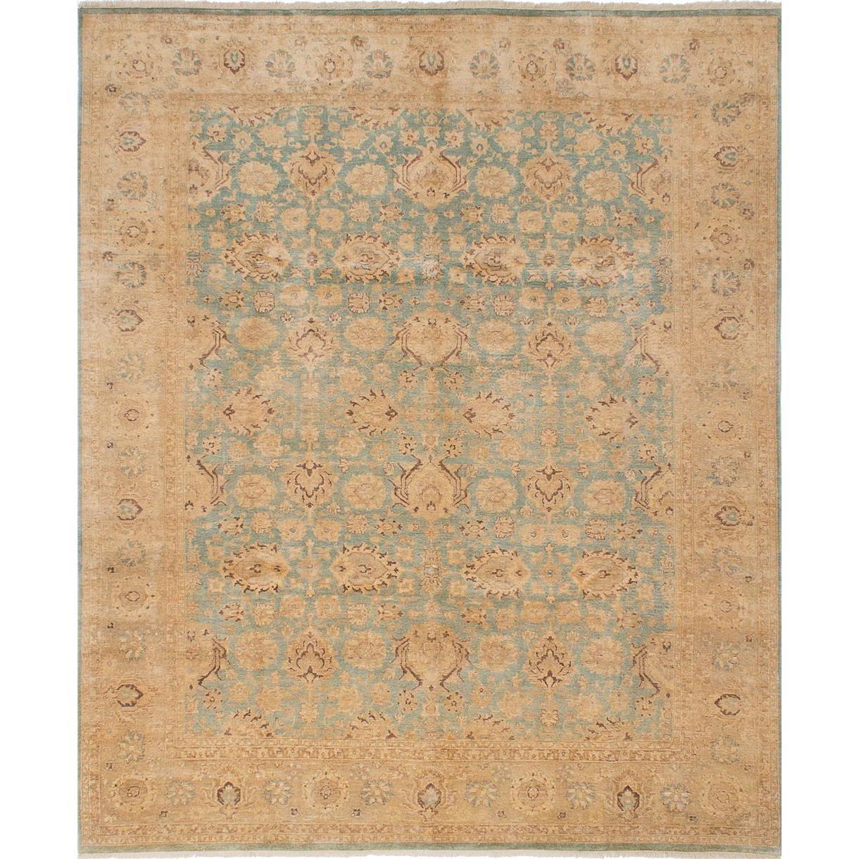 Ecarpetgallery Hand-knotted Peshawar Oushak Blue Wool Rug (8 x 97) (Blue Medium Weak Cyan Rug (8 x 9))
