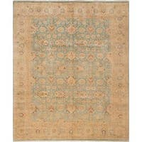 Ecarpetgallery Hand-knotted Peshawar Oushak Blue Wool Rug (8' x 9'7)