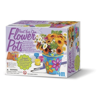 4M Paint Your Own Flower Pots Craft Kit