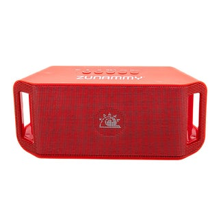 Zunammy Red Black 1200 MAH Portable Bluetooth Speaker with build in Microphone