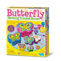 4M Paint Your Own Butterfly Nesting Trinket Box