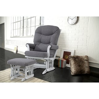Dutailier Grey Multi-position Glider Recliner and Ottoman