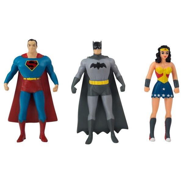 DC Comics Justice League Mini Bendable Figures 3-piece Set (Superman, Batman, Wonder Woman)