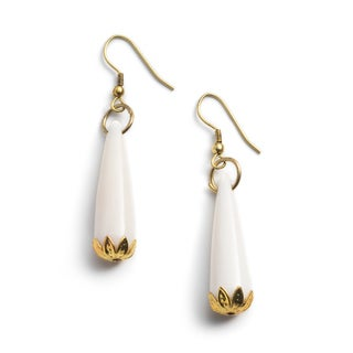 Handmade Anika Gold Teardrop Earrings (India)