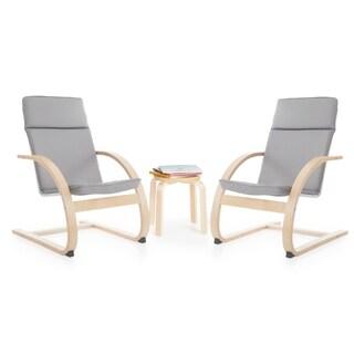 Grey Kiddie Rocker Chair Set