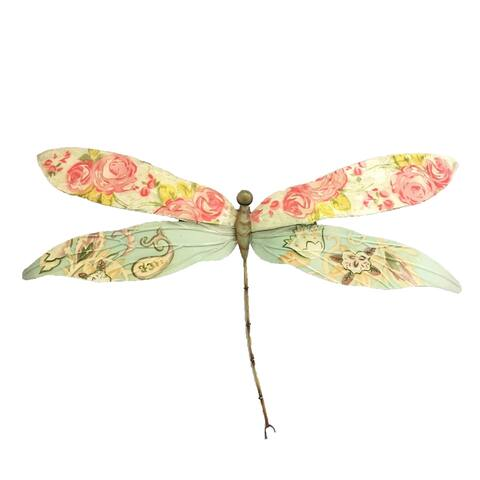 Dragonfly Pink and Blue Garden Decoration