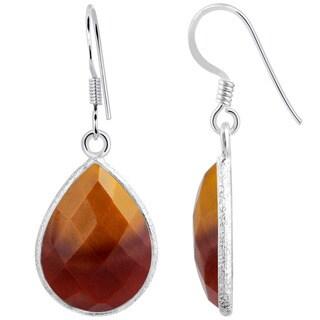Orchid Jewelry 925 Sterling Silver 14.50ct TGW Genuine Mookaite Jasper Earring