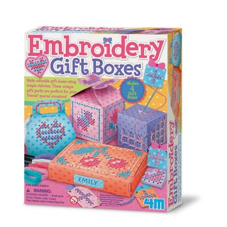 4M Make Your Own Embroidery Gift Boxes Craft Kit