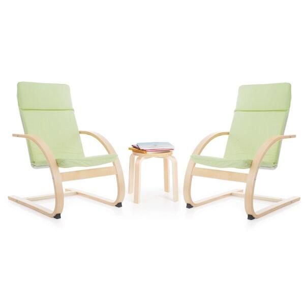 Sage Green Kiddie Rocker Chair Set