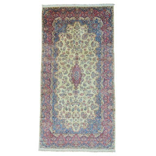 Antique Persian Kerman Gallery Size Good Cond Rug (9'7 x 18'5)