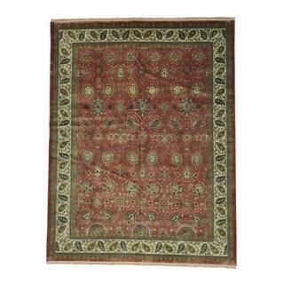 Tabriz New Zealand Wool 300 KPSI Hand Knotted Oriental Rug (9' x 11'8)
