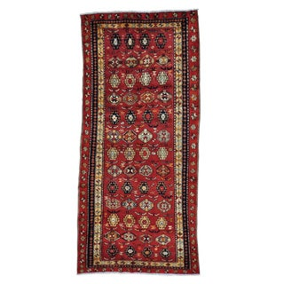 Persian Ardabil Mint Cond Wide Runner Handmade Rug (4'8 x 10'3)