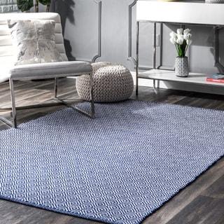 nuLOOM Handmade Flatweave Diamond Cotton Rug (9' x 12')