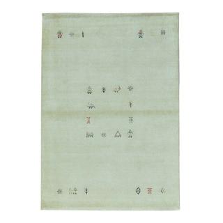 Lori Buft Modern Gabbeh Pure Wool Hand Knotted Oriental Rug (4'3 x 6')