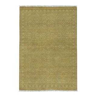 Modern Gabbeh Tone on Tone Pure Wool Handmade Oriental Rug (4'1 x 6')