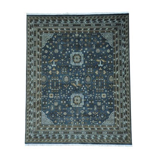 Khotan Design Pure Wool Hand Knotted Oriental Rug (8' x 9'10)