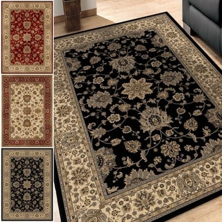 Carolina Weavers Refined Culture Collection Legend Burgundy Area Rug (5'3 x 7'6)
