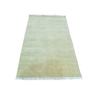 Modern Gabbeh Pure Wool Tone on Tone Handmade Oriental Rug (3' x 5'1)