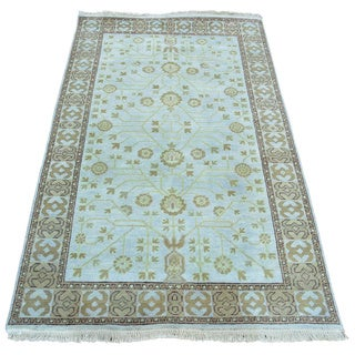 Khotan Design Pure Wool Hand Knotted Oriental Rug (3' x 5'1)
