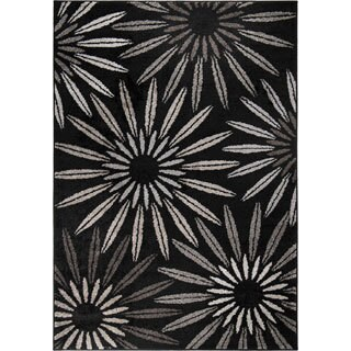 Carolina Weavers American Tradition Collection Comet Black Area Rug (5'3 x 7'6)