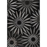 "Carolina Weavers American Tradition Collection Comet Black Area Rug - 5'3"" x 7'6"""