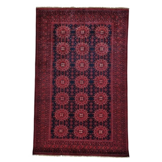 Vegetable Dyes Pure Wool Hand Knotted Afghan Khamyab Rug (5'4 x 8'3)