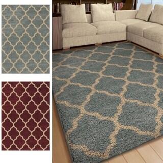 Carolina Weavers Comfy and Cozy Riveting Shag Collection Norton Shag Area Rug (7'10 x 10'10)