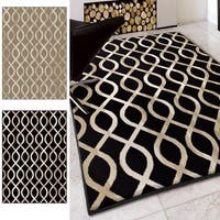 "Carolina Weavers Finesse Collection In the Genes Black Area Rug - 7'10"" x 10'10"""