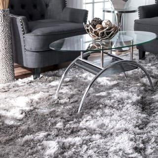 nuLOOM Handmade Soft and Plush Silken Solid Shag Silver Rug (4' x 6')|https://ak1.ostkcdn.com/images/products/11687444/P18613254.jpg?impolicy=medium