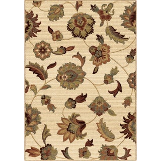 Carolina Weavers Ornate Expressions Collection Wild Floral Vines Area Rug (9' x 13')