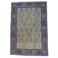 Antique Kerman with Poetry and Animals Oversize Rug