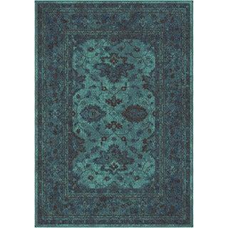 Carolina Weavers Brighton Collection Hermitage Blue Area Rug (5'3 x 7'6)