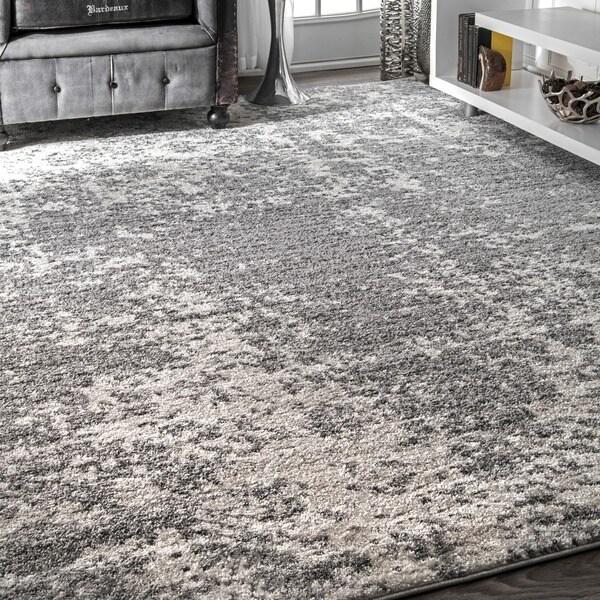 Nuloom Contemporary Granite Mist Shades Grey Rug 7 6 X 9