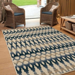 Carolina Weavers Indoor/Outdoor Southwest Radford Multi Area Rug (5'2 x 7'6)