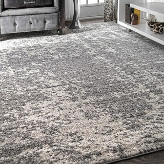 nuLOOM Contemporary Granite Mist Shades Grey Rug (8'6 x 11'6)