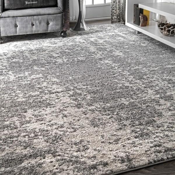 """Porch & Den Seigel Granite Mist Shades Grey Rug - 8'2"""" x 11'6"""""""